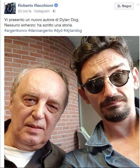 Il regista Dario Argento scriverà una storia di Dylan Dog