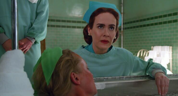 RATCHED (L to R) SARAH PAULSON as MILDRED RATCHED in episode 103 of RATCHED Cr. COURTESY OF NETFLIX © 2020